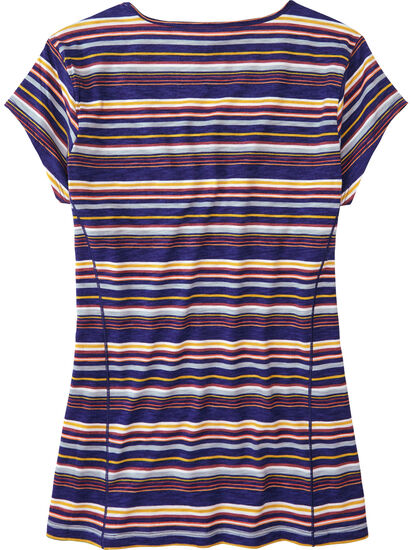 Henerala Short Sleeve Top - Fall Stripes: Image 2
