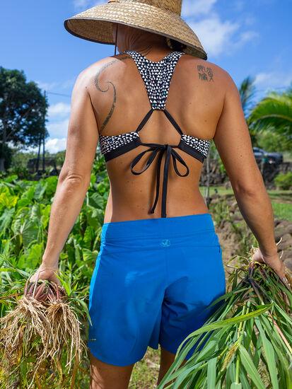 Selkie High Neck Bikini Top - Triangulate: Model Image