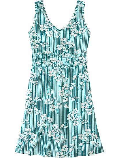 Frances Dress - Pinstripe Floral: Image 1