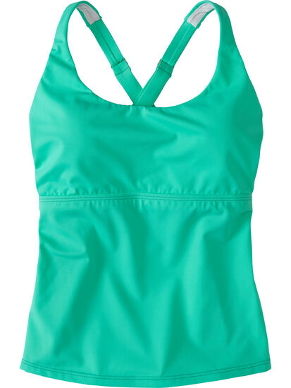 Real Deal Tankini Top - Solid: Image 1
