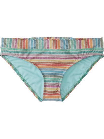 Lehua Bikini Bottom - Linen Stripes: Image 1
