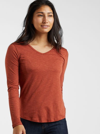 Samba V Neck Long Sleeve Tee: Image 3