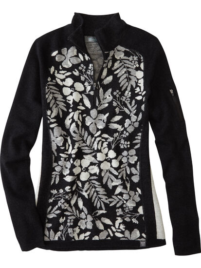 Super Power 1/4 Zip Sweater - Blumen: Image 1