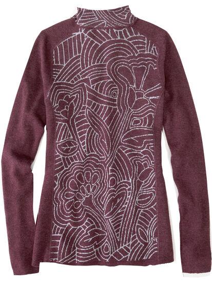 Super Power 1/4 Zip Sweater - Woodcut Botanical: Image 2