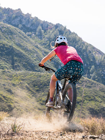 Gone Wild Rye Mountain Bike Shorts: Model Image
