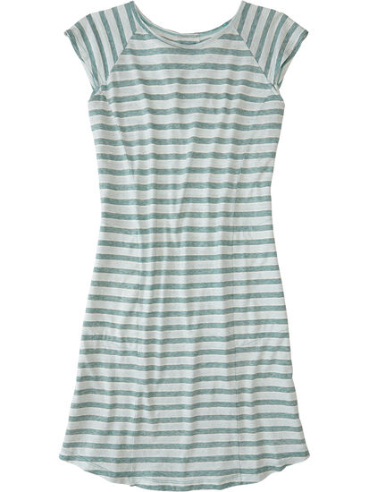 Sativa Short Sleeve Dress - Stripe: Image 1