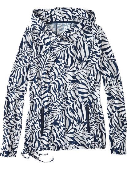 Sunbuster Long Sleeve Hoodie - Palm Print: Image 1