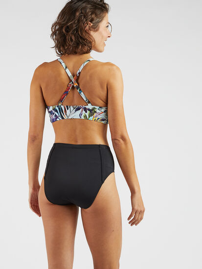 Francie High Waisted Bikini Bottom - Solid: Image 3