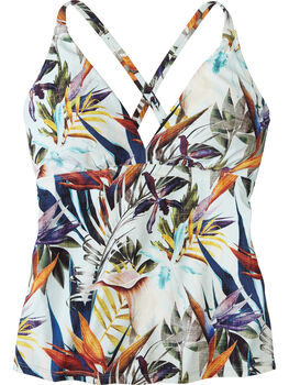 Sure Bet Tankini Top - Tropical