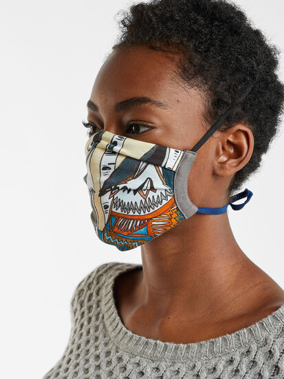 Galleria Reusable Face Mask - Wolves, , original