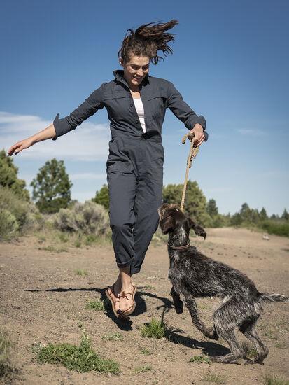 Rosie Utility Long Sleeve Jumpsuit: Model Image