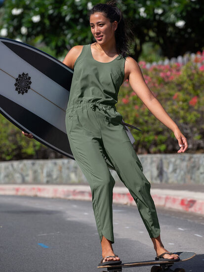 Freedom Sleeveless Jumpsuit: Model Image