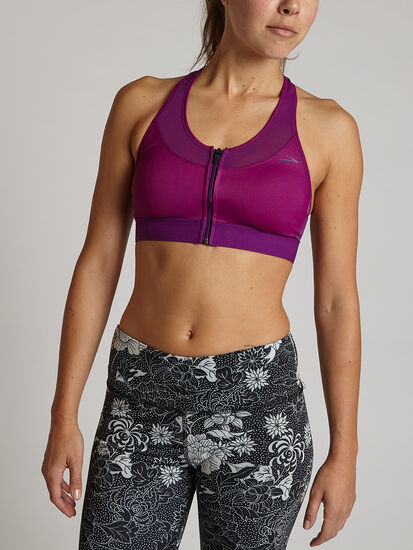 Fast Front Zip Sports Bra: Image 3
