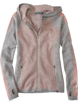 Super Power Full Zip Sweater - Houndstooth Geo
