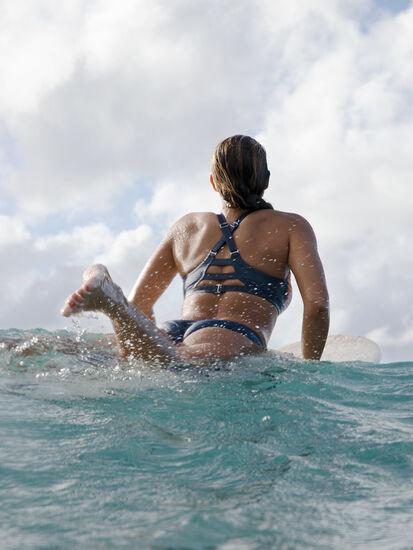 Woman Up High Neck Bikini Top - Flower Mix: Image 4