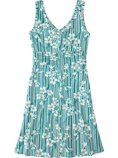 Frances Dress - Pinstripe Floral: Image 2