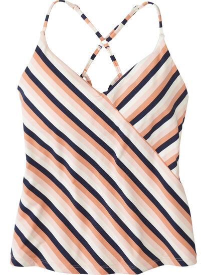 Goldie Tankini Top - Stripe: Image 1