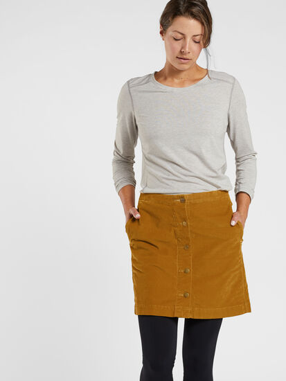 Cruise Corduroy Skirt: Model Image