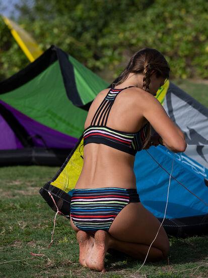 Black Tide Bikini Top - Wavy Stripe: Image 4