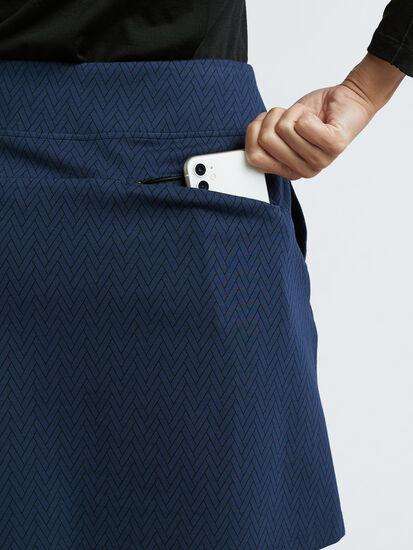 Passport Ponte Skirt - Herringbone: Image 6