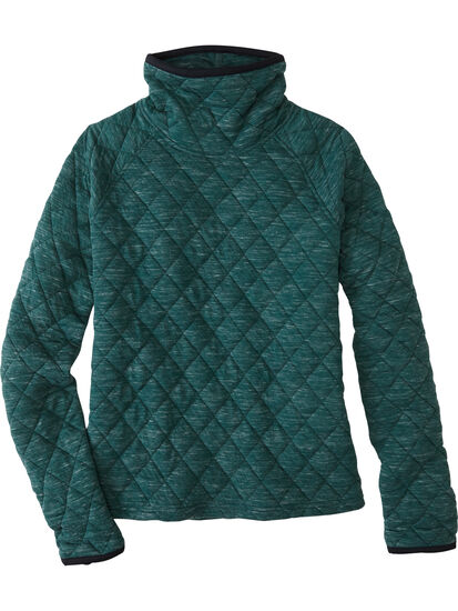 Power Up Quilted Turtleneck Pullover: Image 1