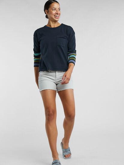 Synergy Crew Neck Sweater - Sleeve Stripe: Image 4