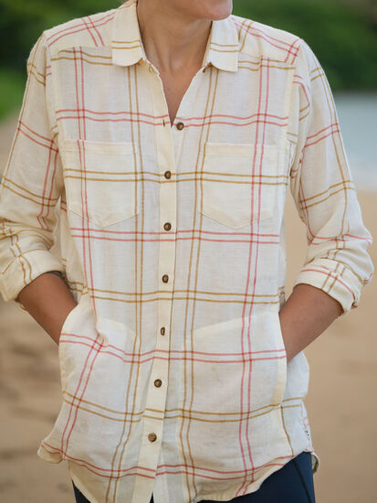 Plaiditude Tunic: Model Image