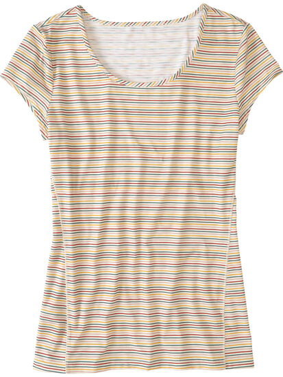 Henerala Short Sleeve Top - Little Stripe: Image 1