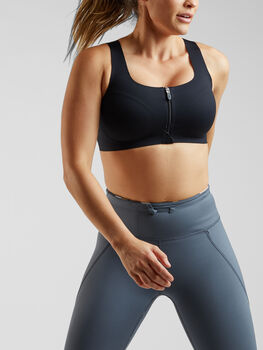 Run It All Zip Front Sports Bra