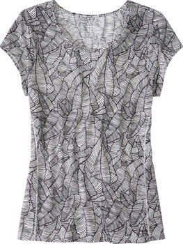 Henerala Short Sleeve Top - Linear Leaf