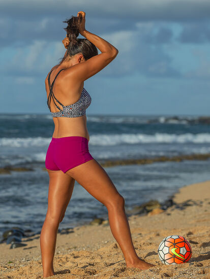 Boyshort Bikini Bottom - Solid: Model Image