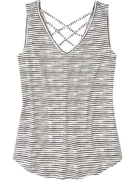 Yasumi Tank Top - Painted Stripe