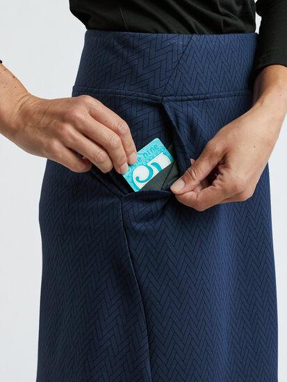 Passport Ponte Skirt - Herringbone: Image 5