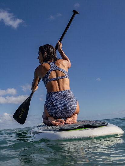 Streamline High Waisted Bikini Bottom - Shibori Mini: Image 4