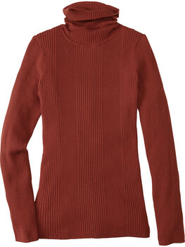 Synergy Ribbed Turtleneck Sweater - Solid