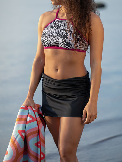 Paddle Board Swim Skirt - Solid: Model Image