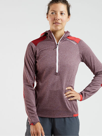 Splurge 1/4 Zip Fleece Hoodie: Model Image