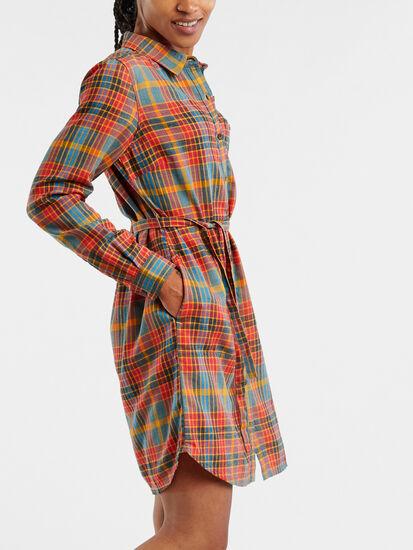 Plaiditude Long Sleeve Shirt Dress: Image 5