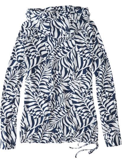 Sunbuster Long Sleeve Hoodie - Palm Print: Image 2