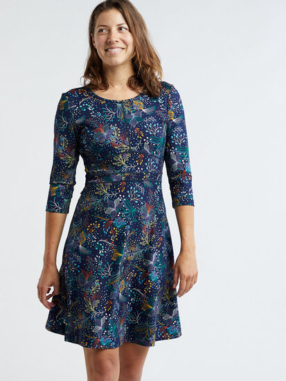 Dream 3/4 Sleeve Dress - Flora Fest: Image 3