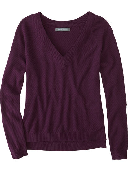 99 V Neck Sweater - Textured: Image 1