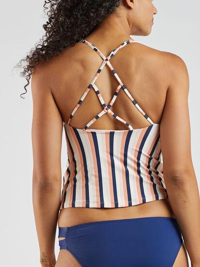 Goldie Tankini Top - Stripe: Image 3
