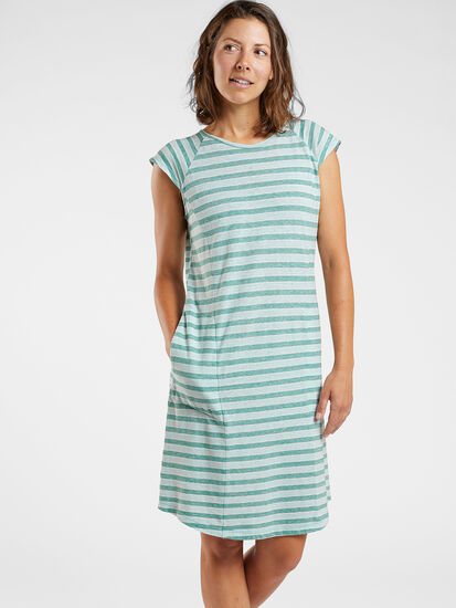 Sativa Short Sleeve Dress - Stripe: Image 3