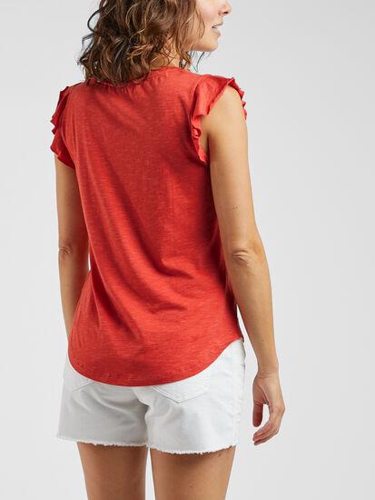 Samba Flutter Sleeve Top: Image 3