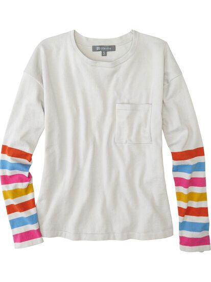 Synergy Crew Neck Sweater - Sleeve Stripe: Image 1