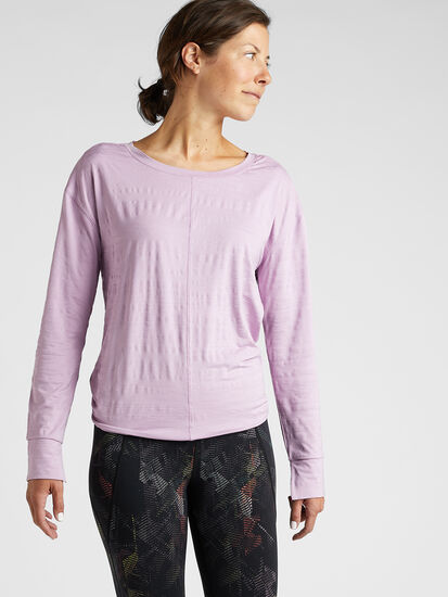 Phoenix Pleat Back Long Sleeve Top: Image 3