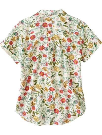 Ziff Short Sleeve Button Down Top: Image 2