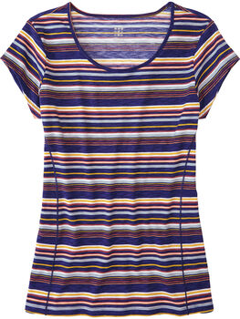 Henerala Short Sleeve Top - Fall Stripes