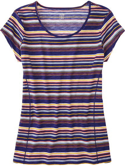 Henerala Short Sleeve Top - Fall Stripes: Image 1
