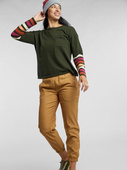 Synergy Crew Neck Sweater - Sleeve Stripe: Image 3